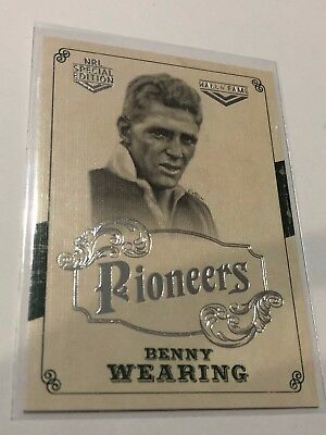 2018 NRL Glory Pioneers Insert Card - Benny Wearing - Hall Of Fame - PS 20