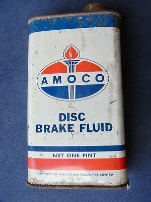 Vintage AMOCO Disc Brake Fluid One Pint Oil Tin