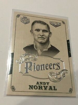 2018 NRL Glory Pioneers Insert Card - Andy Norval - Hall Of Fame - PS 37