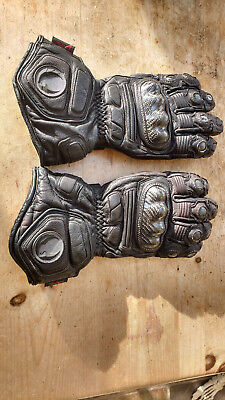 Belstaff Winter Waterproof Motorcycle Gloves Leather- Black Size M