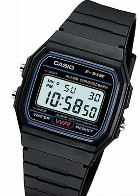 NEW! CASIO Wrist Watch  F-91W-1JF