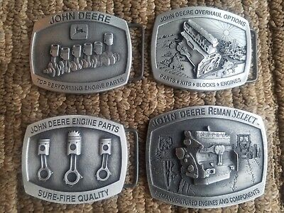 John Deere Belt Buckles Nib, Lot Of 4
