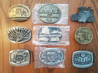 John Deere Officially Licensed Belt Buckles, Lot Of 9