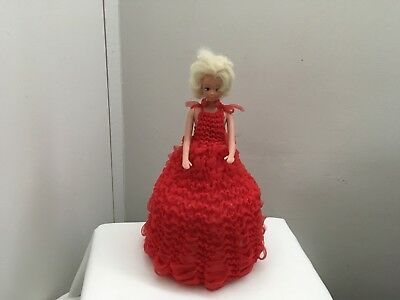 Vintage Retro Red Doll Kitsch Toilet Paper Roll Double Or Single Cover Holder