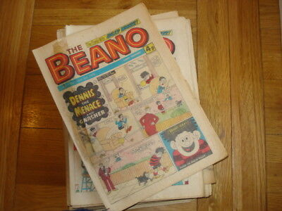 Beano comics 1976 (January - December  7 missing) - Excellent (LOT8)