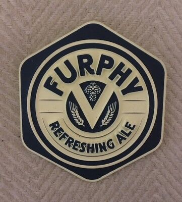NEW Furphy Tap Beer Top Metal Badge with back sticker Free Postage