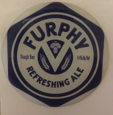 Furphy Refreshing Ale Tap Beer Decal Badge Acrylic Sticker Brand New Top