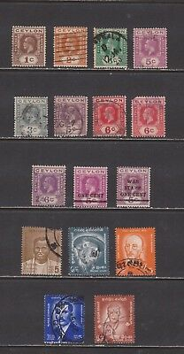 Ceylon-  Lot 135,  Old Used.
