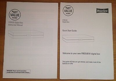 INSTRUCTIONS MANUAL Quick User Guide For Argos Value STB101 Digital Freeview Box