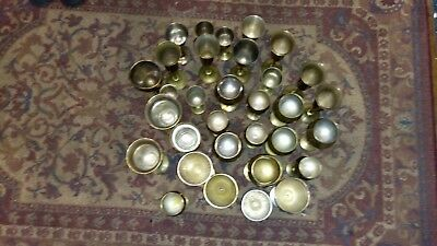 Huge lot of 32 lovely antique solid brass goblets very old wedding gift cups.