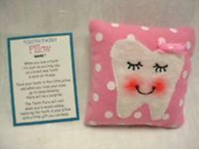 Ganz Tooth Fairy Pillow Pink