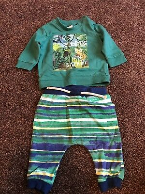 Boys Next Top And Bottoms Outfit. Size 0-3 Months