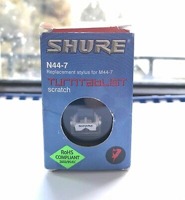 Genuine Shure N44-7 Stylus Replacement Shure M44-7 Cartridge Turntable Scratch