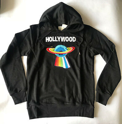 36a89bc9d24 Brand Gucci Hollywood Sweater UFO Hoodie Sweatshirt Black Italy Men s size  XL