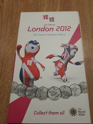 First Edition London 2012 Olympic Games 50p Coin Album Coin Album Only No Coins