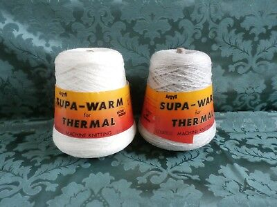 2 cones of Argyll Supa warm Machine Knitting Wool.