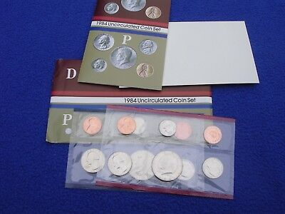 1984 P & D US Mint Uncirculated 10 Coin Set  With COA