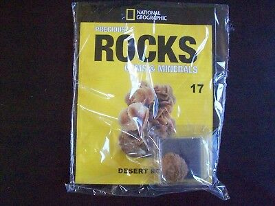 National Geographic Precious Rocks Gems & Minerals Magazine Issue 17 Desert Rose
