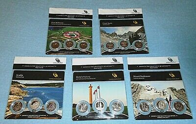 2012 Acadia National Park PDS mints ATB Quarters Three (3)-coin set SEALED