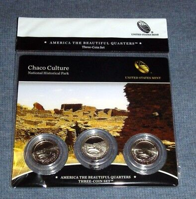 2012 Chaco Culture National Park PDS mints ATB Quarters Three (3)-coin set