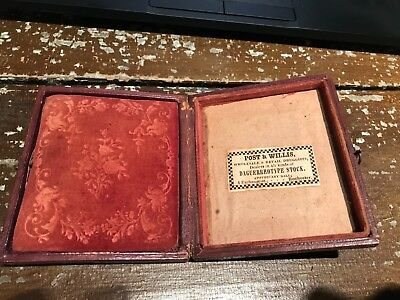Daguerreotype Case Post Willis no image Rochester New York 6th plate