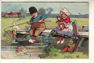 """""""JRS"""" - Comic Angling - Dutch Couple with Cat"""