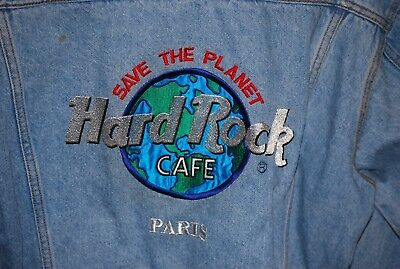 "Hard Rock Cafe ""Save the Planet"" Paris France Jacket - Medium"