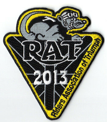 2013 Riders Association of Triumph Motorcycles RAT Patch Badge