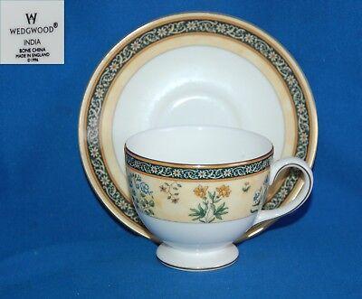 """Wedgwood """"India"""" bone china duo, cabinet cup and saucer"""