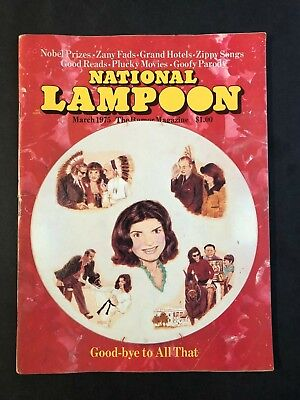 National Lampoon Magazine March 1975 Good-Bye To All That    No ML