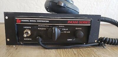 Federal Signal PA300 Series with Microphone  Emergency Siren model 690000