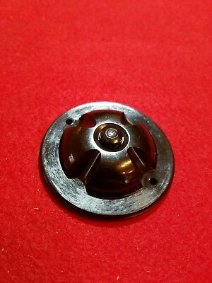 Vintage Brown Bakelite Door Bell Push Button Switch. No box. Marked M.
