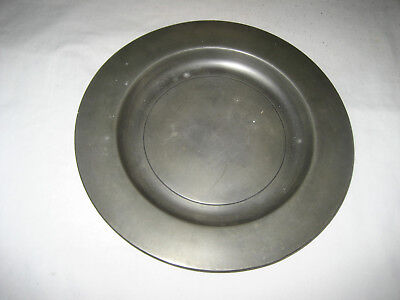 Antique Early 18th Century Pewter Dinner Plate Marked London. 10 Inches.