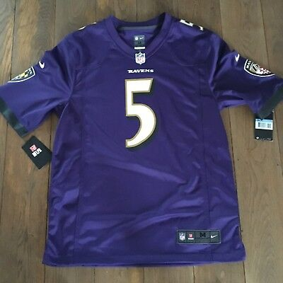 NIKE NFL BALTIMORE 5 JOE FLACCO Violet  Football Americain Neuf