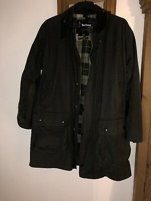 """MENS BARBOUR"""" BORDER"""" WAXED JACKET With Matching LINER 42"""" Green"""