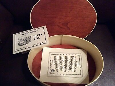 Scrimshaw Ditty Box By Artek Inc Save The Whales Collection With Boston Scenes