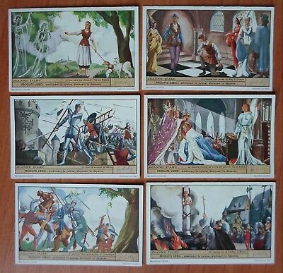 1937 complete set of 6 liebig trade cards S 1355 JOAN OF ARC LIFE