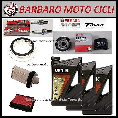 Replacement Kit Yamaha T-Max Tmax 500 From 08 Al 11 Oil+Spark Plugs+Filters