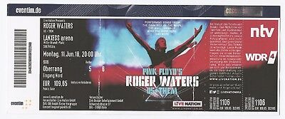 Roger Waters(Pink Floyd)  Us+Them Tour 2018  Ticket/Konzertkarte/Eintrittskarte