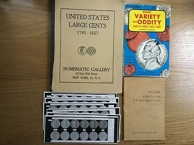 Vintage Lot Coin books and coin cards