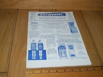 1957 MIKE MUNVES CATALOG Peep Show Fortune Teller Wurlitzer Jukebox Mutoscope