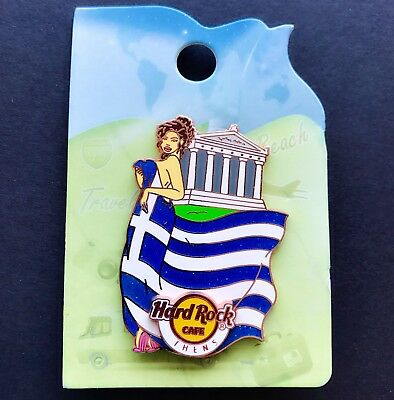 HARD ROCK CAFE ATHENS 2015 LANDMARK FLAG GIRL SERIES PIN Le 200