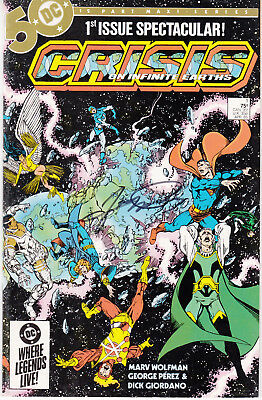 Crisis on Infinite Earths #1 (DC, 1984) - Signed by Artist George Perez