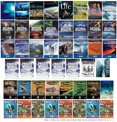 Wildlife David Attenborough BBC Earth Discovery Channel Animal Planet 47 DVD