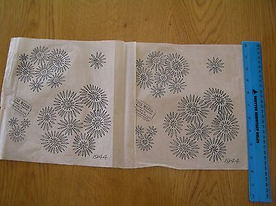 Unused Vintage Webco Embroidery Transfer Sheet 1944; Flowers