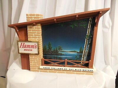 1960's Hamms Starry Nights Motion advertising sign. Hard to find in this shape