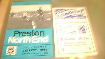 4 x preston north end 1960s and 1970s home programmes