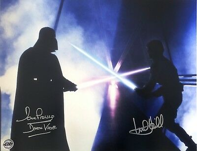 Mark Hamill & Dave Prowse Signed Licensed Star Wars 16x20 Photo Cloud City Duel
