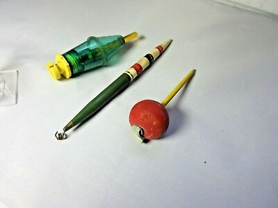 Vintage Lot of 3 Bobbers  Tackle Box Find Great Combination