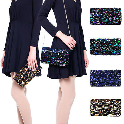 Mermaid Evening Bag Fashion Shoulder Sequin Glitter Sparkling Shiny Make up